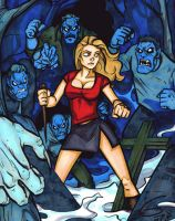 BUFFY Marker Drawing by grantgoboom