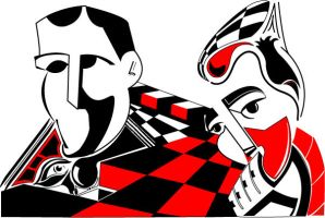 Red n White n Black Vector by Alzer81