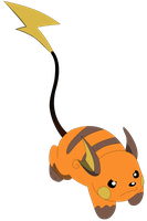 My third vector of Raichu. by Flutterflyraptor