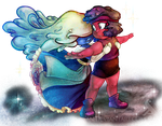 Ruby and Sapphire by Analostan