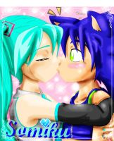 Miku kiss Sonic by sonicartist16