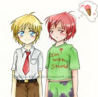 Spongebob and Patrick?? by Eilyn-Chan
