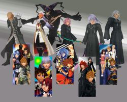 Kingdom Hearts All together by 8shortfuse