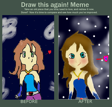 Draw This Again Meme (Moon Experiment.) by Hippiechick144