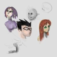 Sketchbook: Some More Titans by CptnT