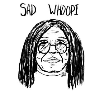 sad whoopi by LateNiteDraw