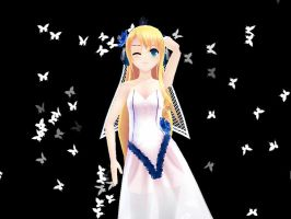 MMD White Butterflies Download by ChestNutScoop