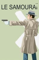 Alain Delon as Le Samourai by thenumber42