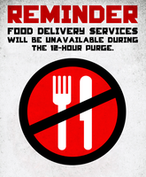 Purge Reminders: Food Delivery Services by MrAngryDog
