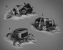 RUST - Vehicles Sketches 02 by Howi3