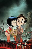 Vampirella Army Of Darkness 1 Sub Cover by TonyFleecs