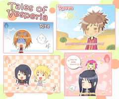 Tales of Vesperia Doodles by Yuuhiko