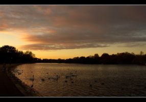 Sunset in Hyde Park by Isyala