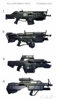 Assault rifle concepts by DESTRAUDO