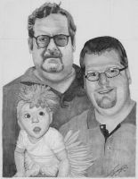 Three Generations Portrait Commission by M-Infernum
