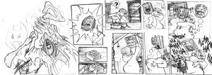 Tales Of Impregnia : Rough Story Board Sample by Mpregnator