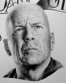 Bruce Willis Expendables poster by Damyanov