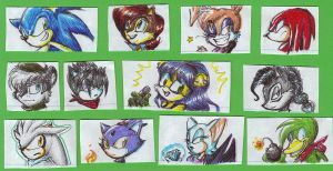 Sonic Heads by Bonka-chan