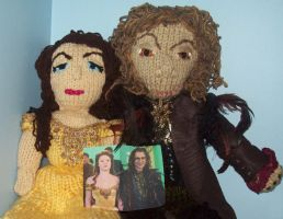 Handknit Rumple and Belle Dolls by piesmama