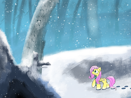 Snowy Forest by FuzzyFox11