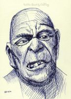 Ball pen sketch Old Man 1 by OCMay