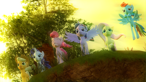 The Guardians of Harmony (MLP 3rd anniversary) by bioshocked1337