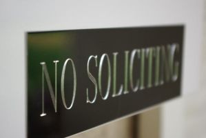 No Soliciting by piefairy