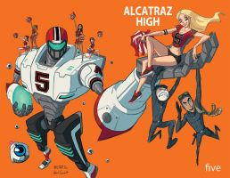 Alcatraz High #5 Cover B by BobbyRubio