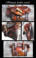 Shaman leather pouch (gobelins set) by Deakath