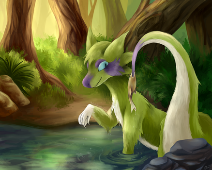 Fishing Tail (Commission) by mintinol