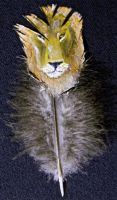 lion feather painting by your-friendly-nukes