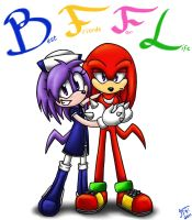 .:REQUEST:. Sonya and Knuckles by SonicFF