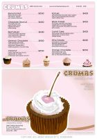 Cup Cake Store Ad with two spot colors by eyeqandy