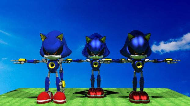Metal Sonic Metal reflection testing. by ShadowRulz324