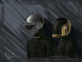 Daft Punk by BarbruBarbarian