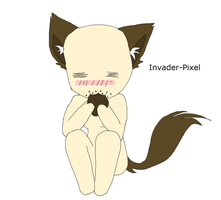 Chibi Neko cookie base by Invader-Pixel