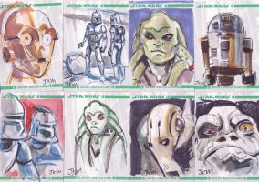 Clone Wars Sketchcards by lazesummerstone