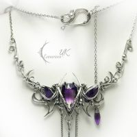 EXANTURIOLH silver and amethyst by LUNARIEEN