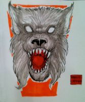 Werewolf sketch from la mole comic con by mdavidct