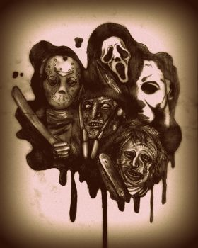 Horror Icons by daddy-likes-men11