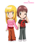 Chibi Sara and Train by FairyAurora