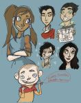 Korra Doodles April 2012 by Alias-Hugo