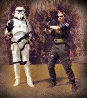 Stormtrooper and Wesker by N3kosann