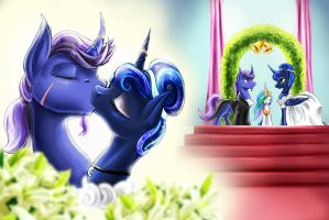 Wedding of Azure Night and Princess Luna by DLowell
