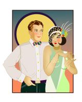 Art Deco Couple by FrauV8
