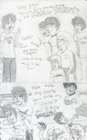 A Game of Mario Party with Friends (Uncolored) by TheInsanityZone