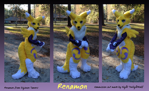 Renamon Fursuit .Cute.- commission by NightTwilightWolf