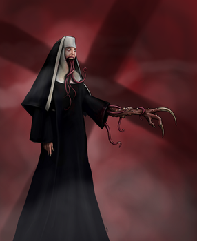 Nightmare Nun by AnatomicalBomb