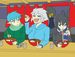 Hot Ramen on a Cold Night by AliciaRFlowright