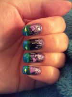 hyrule castle nails by amanda04